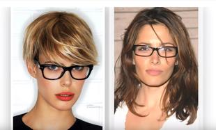 Fryzury dla kobiet, które noszą okulary