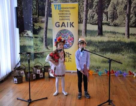 """VII Festiwal Dziecięcej Piosenki Ludowej """"Gaik"""""""