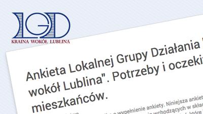 "Ankieta LGD ""Kraina wokół Lublina"" 2014-2020"