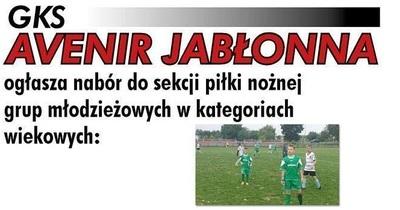 GKS Avenir Jabłonna zaprasza!
