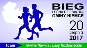 Zaproszenie na pierwszą edycję biegu - Leśna Dziesiątka Gminy Niemce 20.08.2017