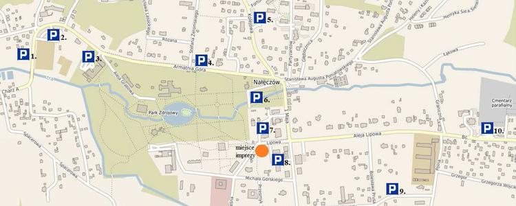 Parkingi na Dożynkach Powiatowych Nałęczów 2018