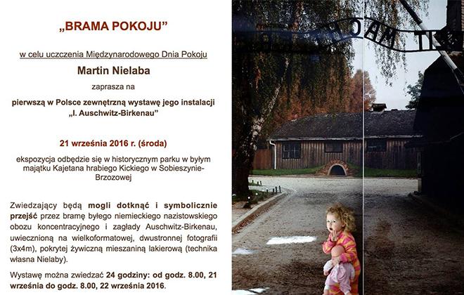 """Martin Nielaba - Pierwsza w Polsce zewnętrzna wystawa instalacji """"I. Auschwitz-Birkenau"""""""