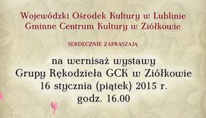 Zaproszenie na wernisaż 16 stycznia 2015 r.