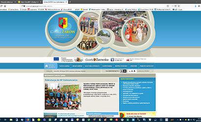 Zmiany na stronie internetowej