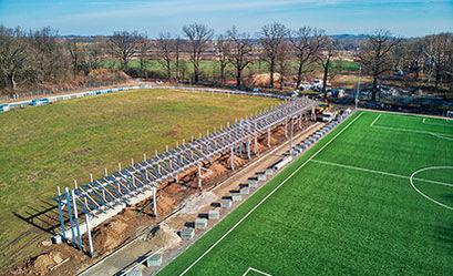 Inwestycje na żarowskim stadionie sportowym