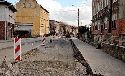 Ulica Mickiewicza w remoncie