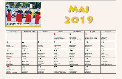 Kalendarz imprez – maj 2019 r.