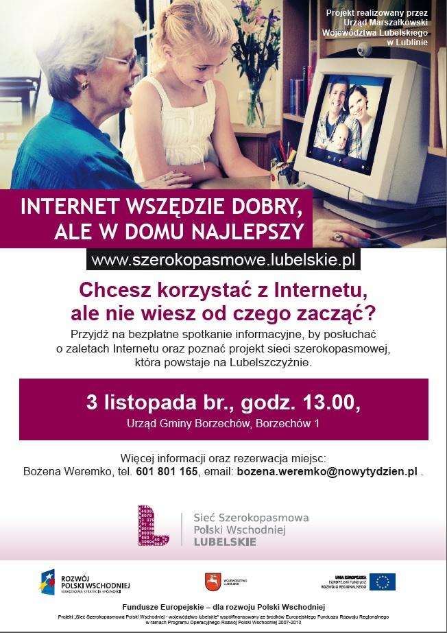 Plakat sieć szerokopasmowa