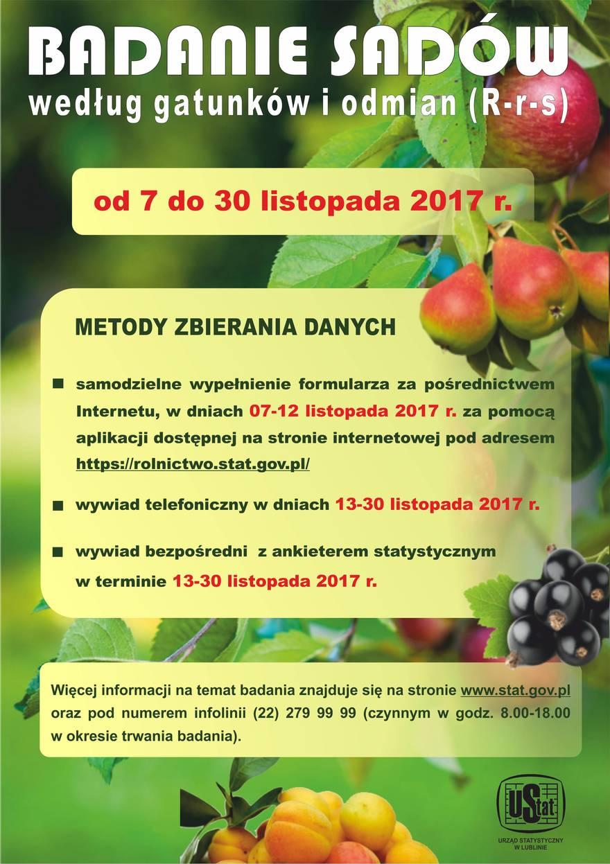 Informacja o badaniach sadów