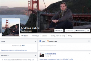 Też zostawiłem Lubitza samego - mówi pilot Germanwings