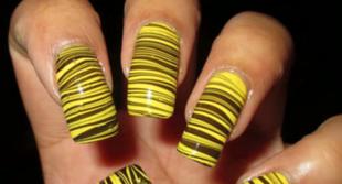 Wzorzyste paznokcie domowym sposobem