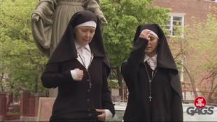 Jak zakonnice do zdjęcia pozowały...