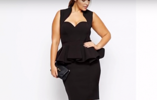 50 krótkich sukienek dla puszystych kobiet