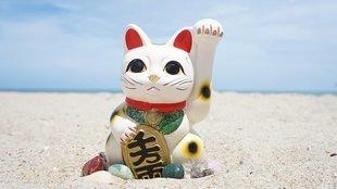 Maneki-neko - kot wabiący klientów i przynoszący dobrobyt