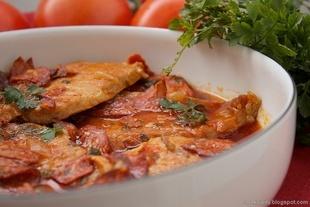Potrawka z chorizo i wieprzowiny