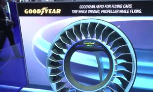 Powstały opony umożliwiające samochodom latanie. Będą wyposażone także w sztuczną inteligencję