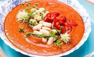 Chłodnik pomidorowo-fasolowy