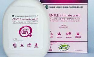 Delikatny płyn do higieny intymnej Gentle Day® z kwasem mlekowym i ekstraktami z ziół