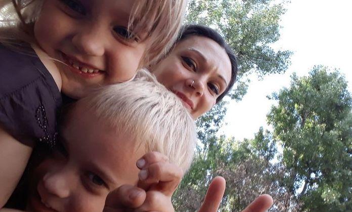 Katarzyna Głuszak z dziećmi