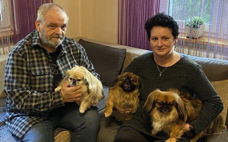 Mariola Marus i Henryk Sadurski z psami