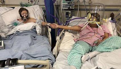 Córka żegna się z matką, obie chorują na Covid -19. To zdjęcie stało się już viralem