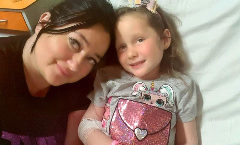 Natalka z mamą