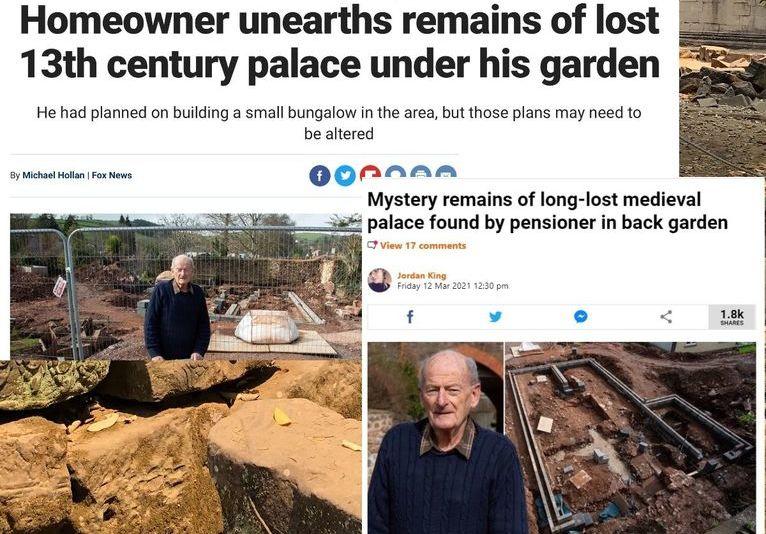Na działce brytyjskiego emeryta odkryto ruiny pałacu