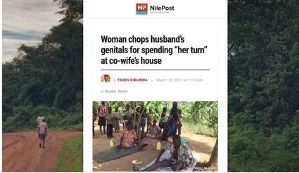 Uganda: Kobieta odcięła mężowi genitalia za to, że spędził noc z drugą żona, choć to nie była jej kolej