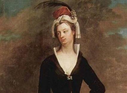 Lady Montagu - kobieta, która pierwsza do Europy sprowadziła szczepionkę. Jeden z jej portretów wisi w Łazienkach
