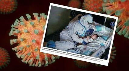 Pielęgniarka przytula dziecko chore na COVID-19.To zdjęcie staje się symbolem pandemii