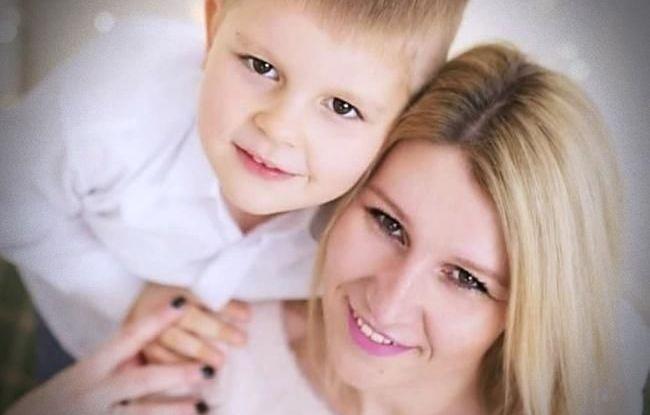Marta z synem Mikołajem