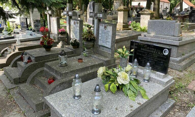 Cmentarz przy ul. Lipowej w Lublinie - groby dzieci z SP nr 17.
