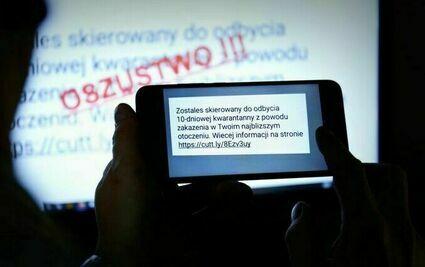 Uwaga na fałszywe SMS-y o kwarantannie!