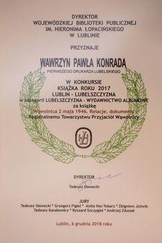 Zwycięstwo  wydawnictwa Wąwolnica 2 maja 1946: relacje, dokumenty! fot. Dariusz Malinowski
