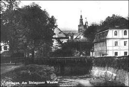 Most nad Strzegomką z karczmą - lata 30-te XX w.