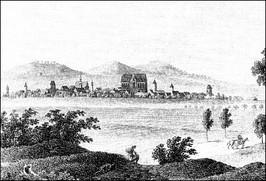 Panorama miasta od strony południowej, pocz. XIXw.