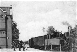 Dworzec kolejowy w Strzegomiu - 1900 r.