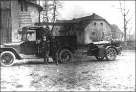 Samochód strzegomskiej straży pożarnej - lata 20-te XX w.