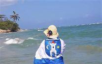 Flaga Świebodzic w Puerto Plata na Dominikanie.