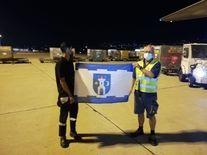 <p>Flaga Świebodzic w Bejrucie (Liban)</p> <p>Fot. zbiory prezesa Towarzystwa Lotniczego w Świebodzicach Grzegorza Glegoły</p>