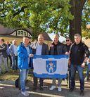 <p>Flaga Świebodzic w Juterborgu (Niemcy).</p>