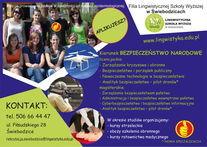 Plakat dotyczący rekrutacji na studia do Lingwistycznej Szkoły Wyższej
