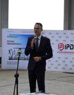 Na zdjęciu widać przemawiającego Prezesa Zarządu Invest-Park Development Pawła  Kurtasza.