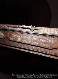 Odrestaurowany sarkofag Zuzanny Jadwigi Schaffgotsch Kościół św. Mikołaja