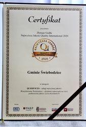 Certyfikat Złotego Godła QI 2020