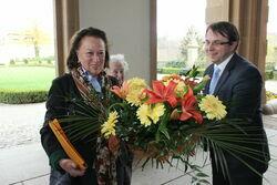 Beatrice Maria Luise Margarethe, hrabianka von Hochberg-Pless podczas wizyty w Zamku Książ.