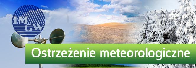 PROGNOZA NIEBEZPIECZNYCH ZJAWISK METEOROLOGICZNYCH z dn. 23 lipca 2015 - BURZE Z GRADEM