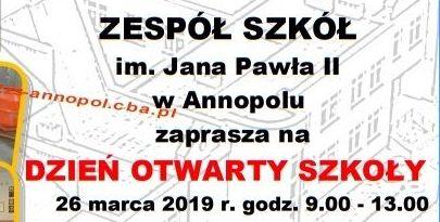Dzień Otwarty w Zespole Szkół im. Jana Pawła II w Annopolu