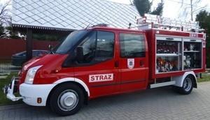 Zaproszenie na uroczystości poświęcenia samochodu ratowniczo - gaśniczego